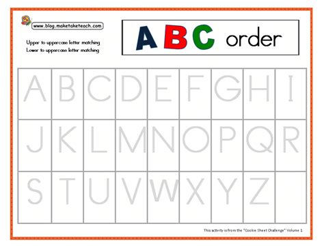 abc template the cookie sheet challenge make take teach