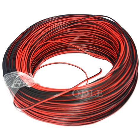 1meter 22awg 2 pin black cable pvc insulated wire