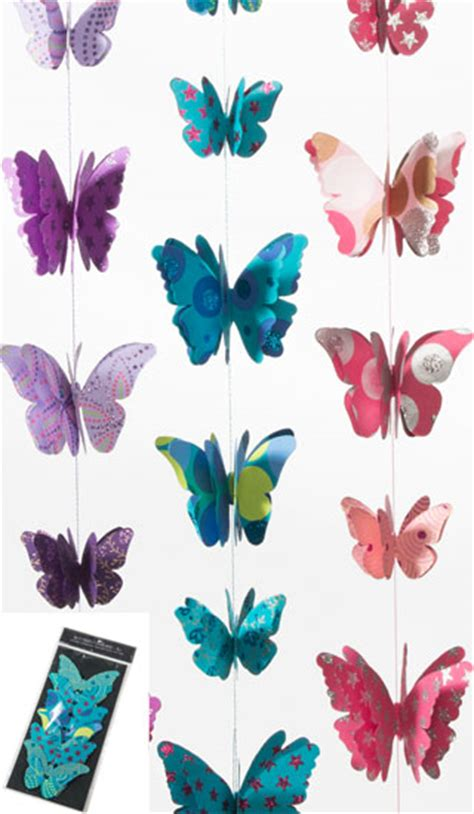 Handmade Paper Butterflies - handmade paper 3 d string of butterflies gt decorations