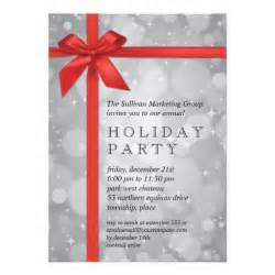 wrapped silver glow corporate holiday party personalized