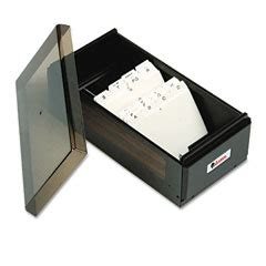 Universal Business Card File 00600 universal 00600 business card file box with lid holds 600