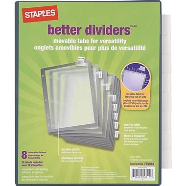 Staples Better Dividers Print Template It S Easy To Find The Office Supplies Copy Paper Furniture Ink Toner Cleaning Products
