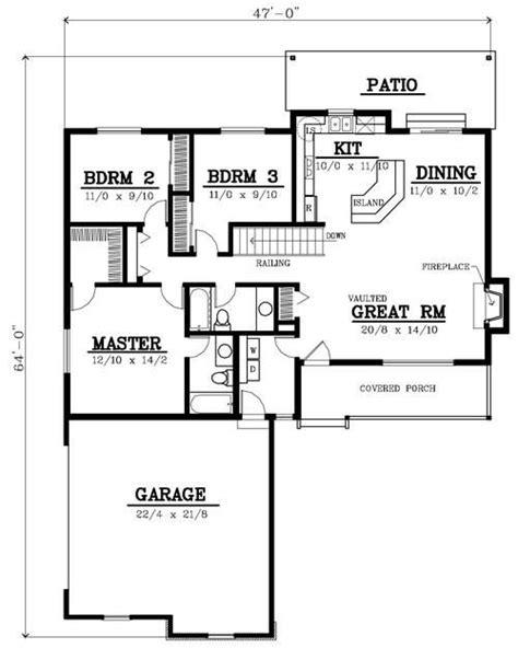 1400 square feet bungalow floor plans bungalows and floor plans on pinterest