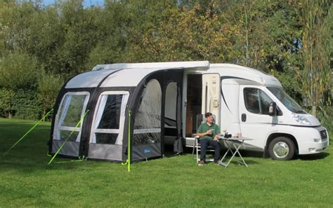 inflatable motorhome awning ka motor rally 260l air pro inflatable fixed motorhome