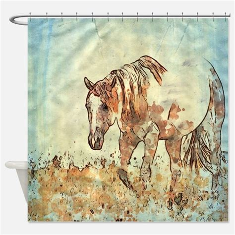 horse fabric for curtains horse art shower curtains horse art fabric shower