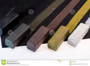 colored charcoal colored charcoal sticks for drawing stock illustration