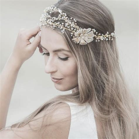 Wedding Hair Accessories Swarovski by Wedding Hair Accessories Swarovski Bridal Headband Gold
