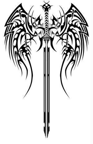 sword cross tattoo 12 best images about on sword