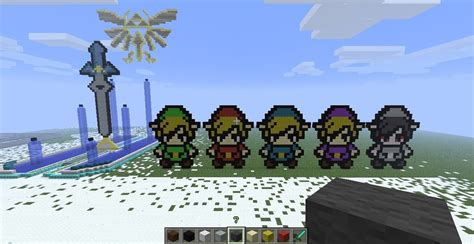 legend of zelda minecraft map seed legend of zelda minecraft block art by linkage92 on
