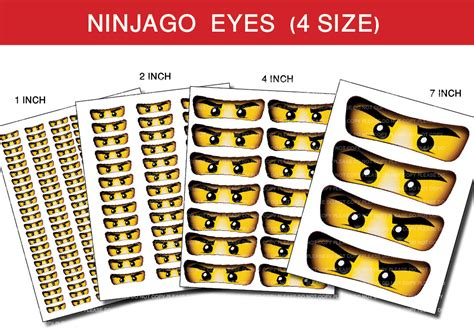 printable ninjago stickers instant dl ninjago eyes for balloon stickers lollipop by
