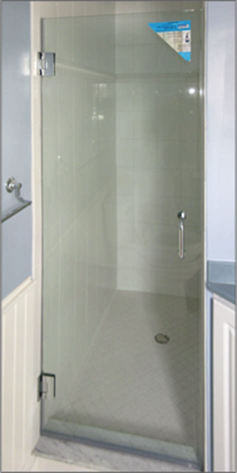 Single Glass Shower Door Single Frameless Shower Doors Dulles Glass And Mirror