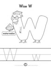 letter formation worksheet w