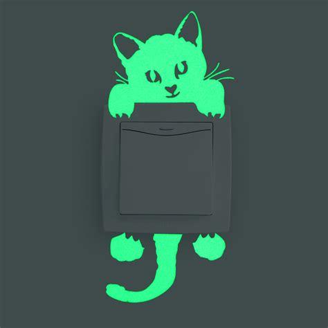 sticker dekorasi glow in model kitten jakartanotebook