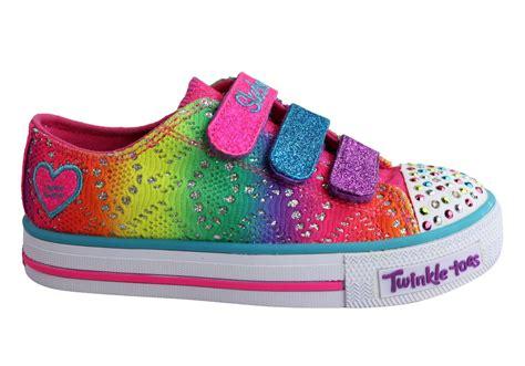 rainbow light up shoes skechers s lights shuffles rainbow madness girls kids