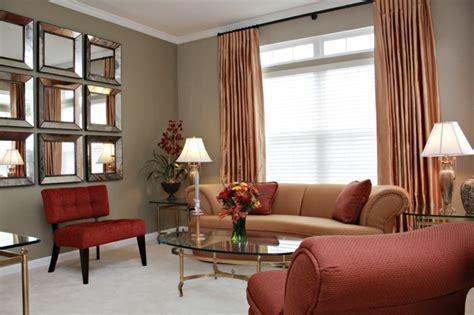 rote wände wohnzimmer schlaf wohnraum ideen