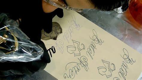 fake skin for tattooing practice script lettering on skin