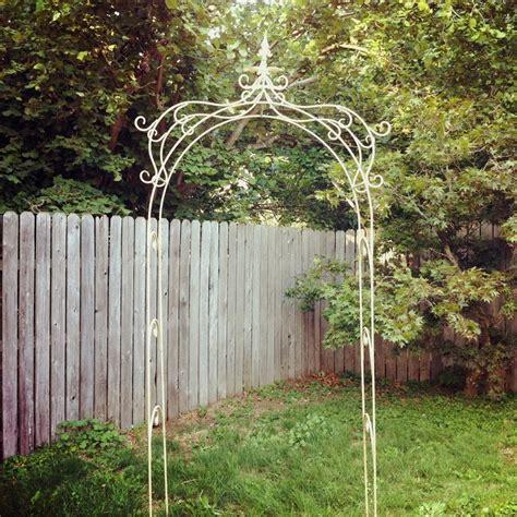 garden iron wrought iron garden arbor garden landscape outdoors