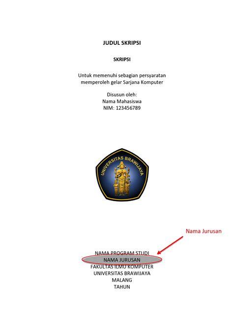 format penulisan skripsi universitas jember template baru skripsi dan thesis filkom ub fakultas ilmu