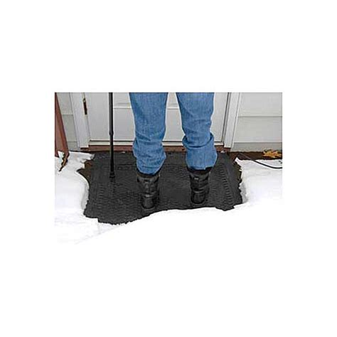 Snow Melt Mat by Heated Mat For Melting Snow And
