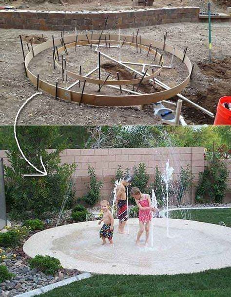 diy backyard splash pad these 27 diy backyard projects for summer are extremely