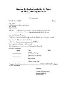 Authorization Letter For Bank Account Opening Authorization Letter Format For Bank