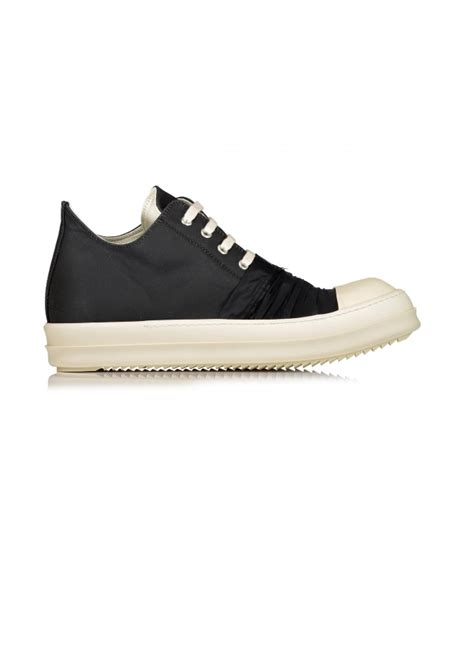 rick owens drkshdw low sneaks woven shoes black milk