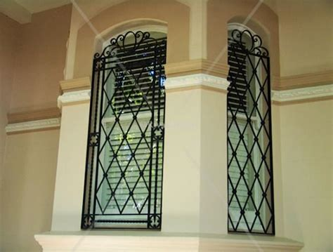 Secure House Windows Decorating Modern Window Bars Home Window Iron Grill Designs Ideas Project Window Bars Pinterest