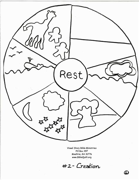creation coloring pages coloring home