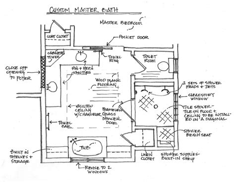 master bed and bath floor plans blum grady signature