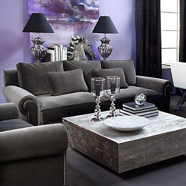 purple and grey sofa velvet miles sofa at z gallerie styled so pretty