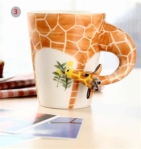 hand painted animal shaped coffee mug feelgift