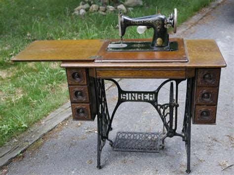 antique singer sewing machine in cabinet antique 1919 singer sewing machine treadle scallop sea