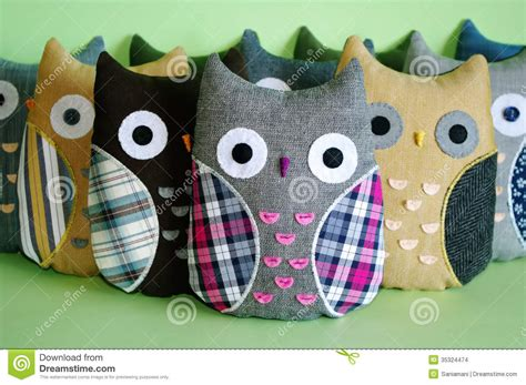 What Does Handmade - handmade owl toys stock images image 35324474