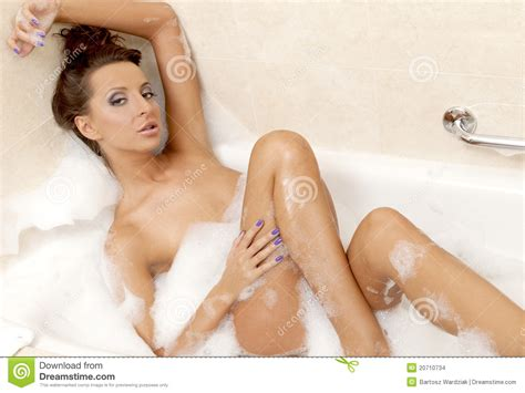 sexy in bathtub sensual sexy girl relaxing in bath foam stock images