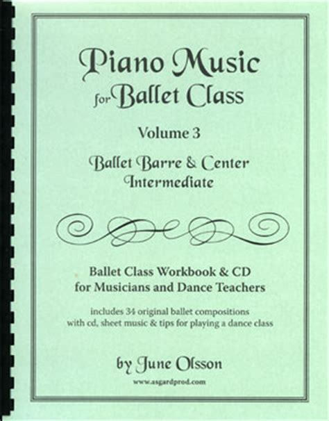 stories for intermediate level volume 3 books piano for ballet class vol 3 intermediate