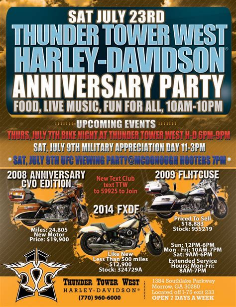 Harley Davidson West by Thunder Tower West Harley Davidson Anniversary Born To