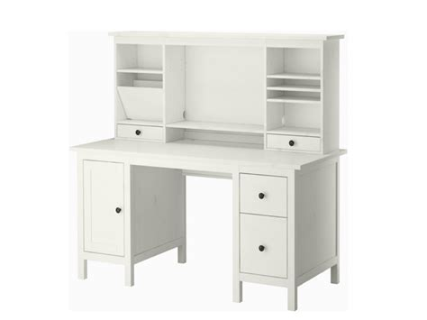 vintage kitchen white computer desk with drawers