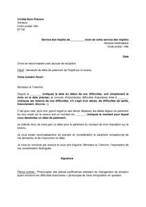 Modeles De Lettre Aux Impots Modele Lettre Aux Impots Document