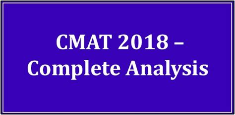 Cmat For Mba Syllabus by Cmat 2018 All About Pattern Selection Process And