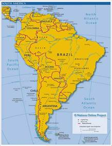 south america states and capitals map map of south america countries and capitals