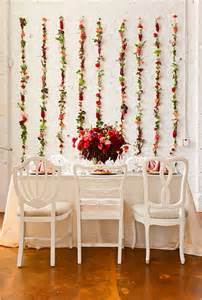 hanging flower wall backdrop wedding flowers photos