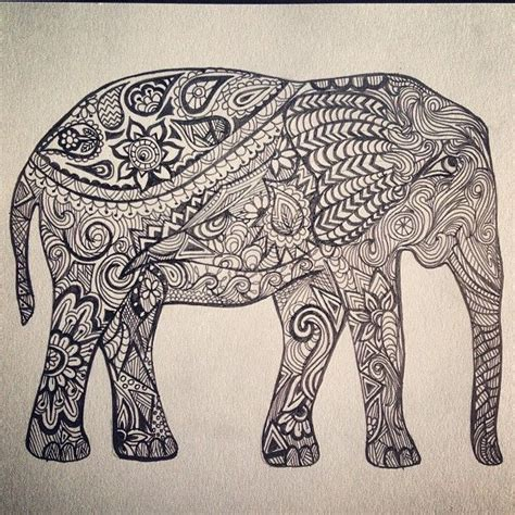 doodle pens india indian elephant outline search inspiration
