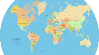 Picture Of World Map by Vector World Map A Free Accurate World Map In Vector Format