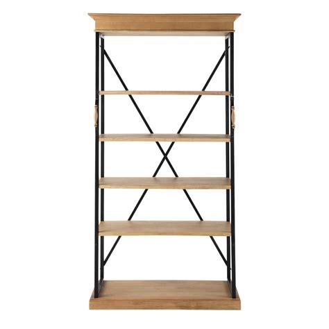 mango wood bookcase w 105cm naturaliste maisons du monde