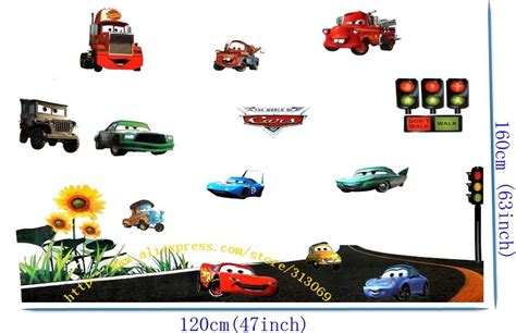 vehicle wall stickers aliexpress buy free shipping assembled size 160cm 120cm pixar car combination wall