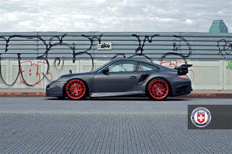 porsche turbo wheels porsche 997 turbo with hre p40sc forged alloy wheels in