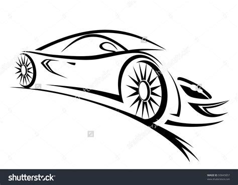 car black and white fast car clipart black and white clipartxtras