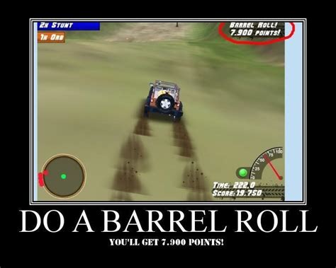 Barrel Roll Meme - image 30443 do a barrel roll know your meme