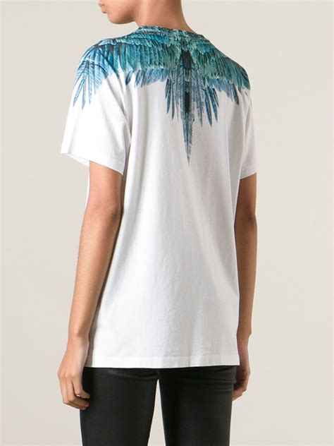 T Shirt Feather Be You White marcelo burlon feather print t shirt in white lyst