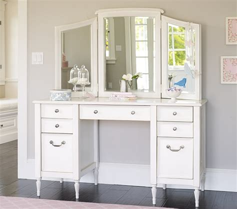 Pottery Barn Vanity Table by Darcy Desk Vanity Hutch Pottery Barn